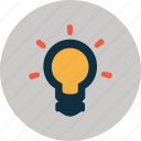idea, innovation, lightbulb, think, thinking icon