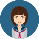avatar, college, female, girl, graduate, learn, student icon