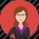 avatar, college, female, learn, school, student, study icon