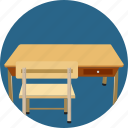 dining, file, learning, office, reading, study, table icon