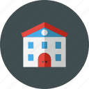 building, college, knowledge, learning, office, school, study icon