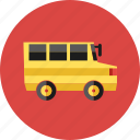 bus, delivery, public, school bus, student, university, vehicle icon