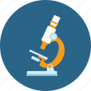 biology, chemistry, education, experiment, microscope, test icon