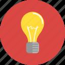energy, idea, innovation, lightbulb, mind, think, thinking icon