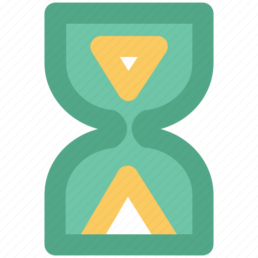 clock, egg timer, hourglass, sand glass, sand timer, timer icon