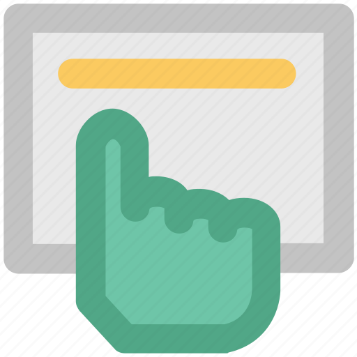 click, finger pointing, hand gesture, hand touch, hand touching icon