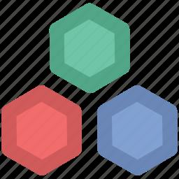cells, geometric pattern, hexagonal pattern, hexagons, honeycomb icon