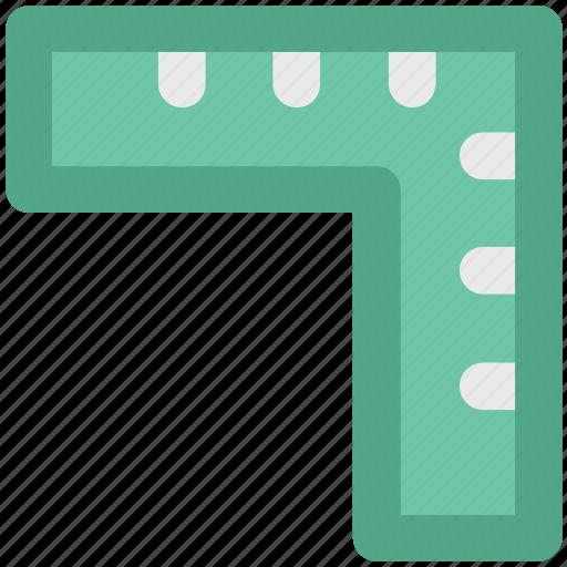 architecture, carpenter tool, decimal ruler, measure tool, ruler, set square, t square icon