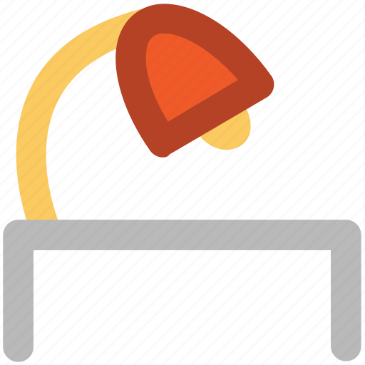desk lamp, desk light, electric, lamp, lamp light, light, table lamp icon