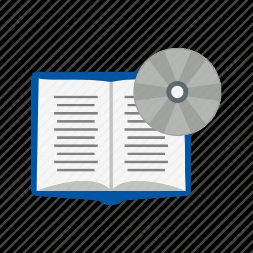 book, dvd, education icon