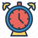 alarm, alert, bell, clock, security, siren, time icon