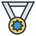 award, badge, medal, olympics, prize, ribbon, winner icon