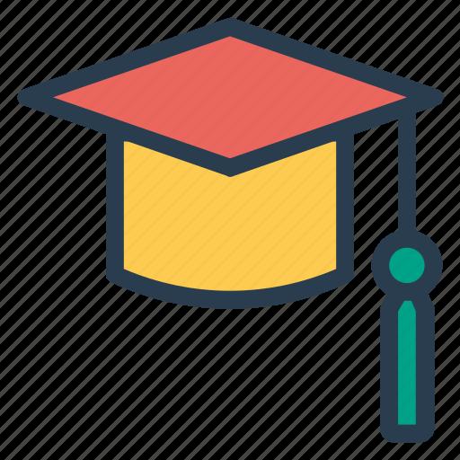 cap, degree, diploma, education, graduate, graduationcap, university icon