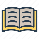 book, education, learning, openbook, pages, reading, study icon