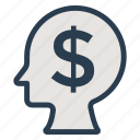 avatar, business, coin, dollar, emoji, finance, idea icon