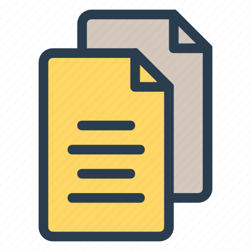 document, documents, file, files, folder, paper, record icon