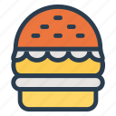 burger, fast, fastfood, food, hamburger, junk, steak icon