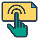 connect, finger, gesture, hand, screen, tablet, touch icon