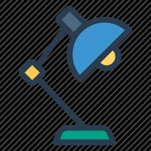 bulb, desk, furniture, lamp, light, lighttable, table icon