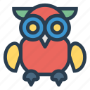animal, animals, bird, eagle, owl, owlflying, owlisolated icon