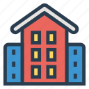 building, campus, college, education, graduation, school, university icon