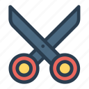 business, cut, cutting, education, scissor, scissors, tool icon