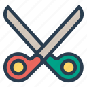 cut, cutting, drawing, education, scissor, scissors, tool icon