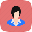 avatar, female, scientist, teacher icon