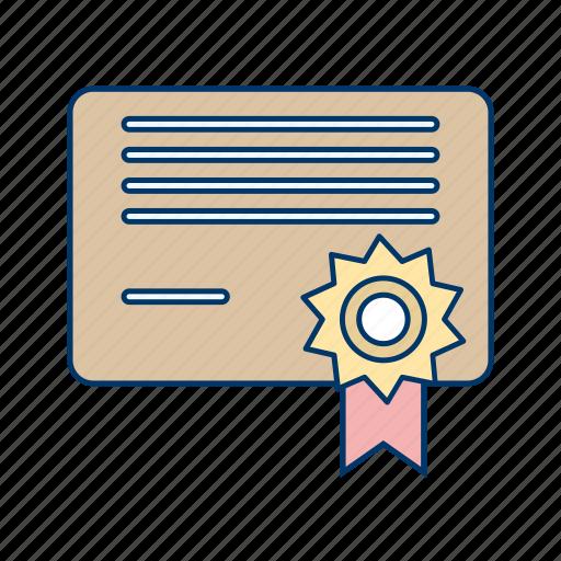 certification, degree, graduation icon