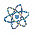 atom, molecule, nuclear, structure icon