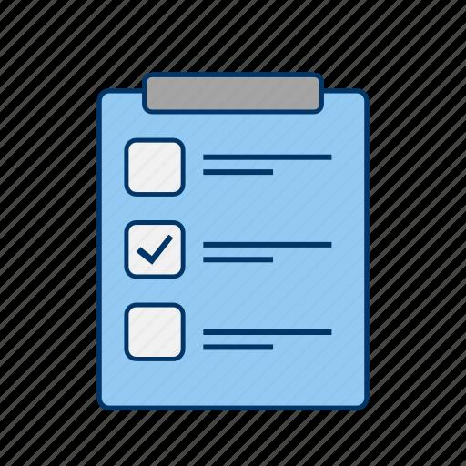 check list, clipboard, file, list icon