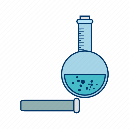 chemistry set, flask, laboratory, research icon