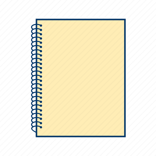 diary, note book, spiral notebook icon