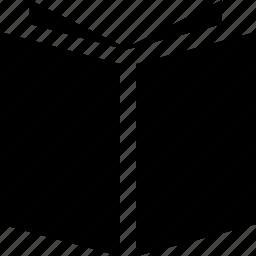 black color, book, color, cover, open, school, study icon
