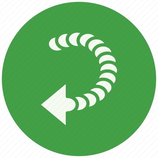 arrow, back, direction, download, move, pointer, rewind icon