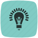 bulb, electric, electricity, energy, lamp bulb, light, lightbulb icon
