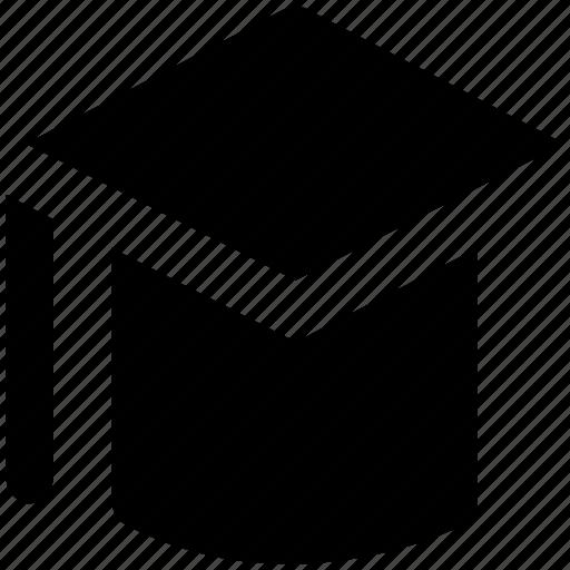 bachelor, graduation, graduation cap, graduation hat, mortarboard, tassel cap icon