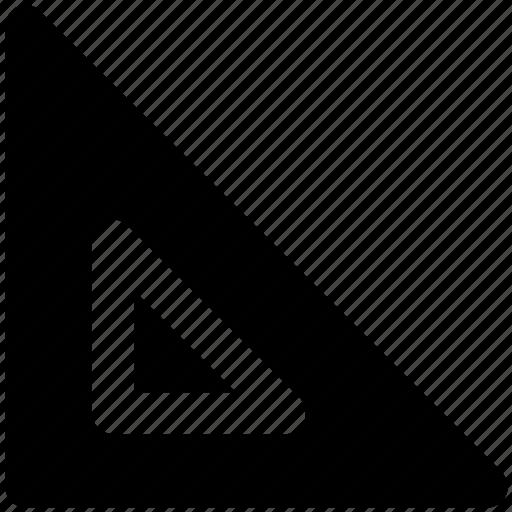 degree square, drafting, geometry, geometry tool, graphometer, semicircular, set square icon