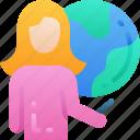 education, globe, lesson, smart, teacher, teaching, worldwide icon