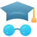 degree, education, glasses, learn, smart
