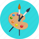art, brush, color, education, paint, painting, palette icon