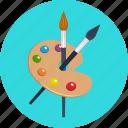 art, brush, color, education, paint, painting, palette