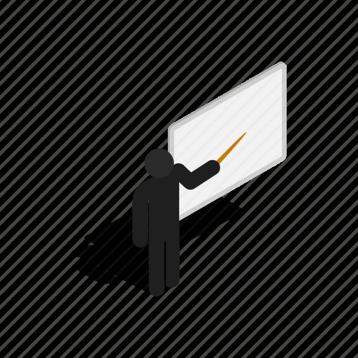 blackboard, classroom, education, isometric, school, teacher icon