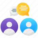 collaboration, communication, conversation, discussion, meeting, negotiation icon