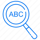 abc, search, searching icon