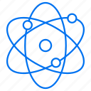 atoms, nuclear, physics icon