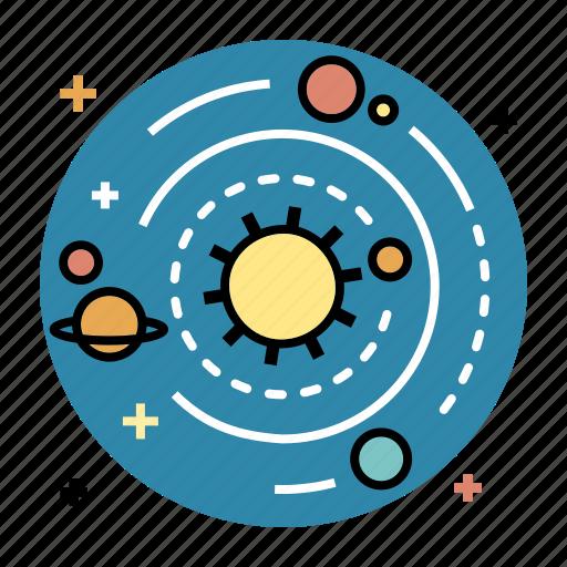 astronomy, education, orbit, solar, space, system, universe icon