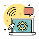 digital education, e-learning, knowledge, learning, online, technology, webinar icon