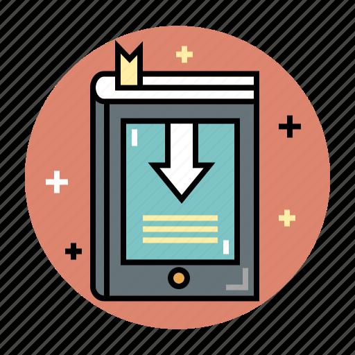 book, digital, e-book, ebook, education, reading, technology icon