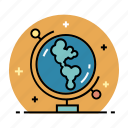 earth, education, geography, global, globe, map, travel icon